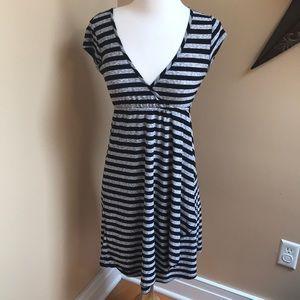 V-neck Striped Date Dress or Swim Coverup